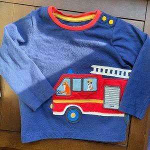 Baby Boden Fire Truck Tee